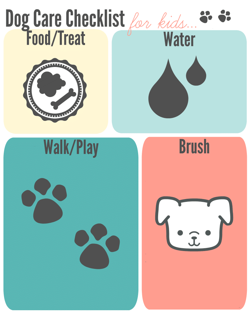 checklist for kids to care for pets