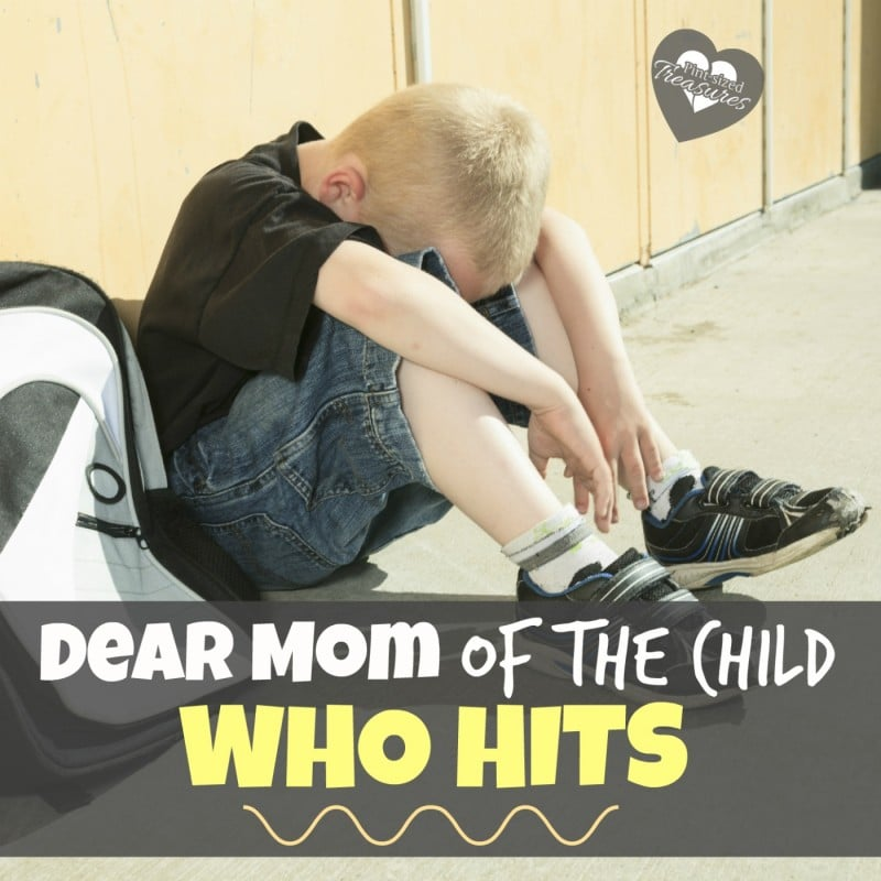 dear moms who have children that hit