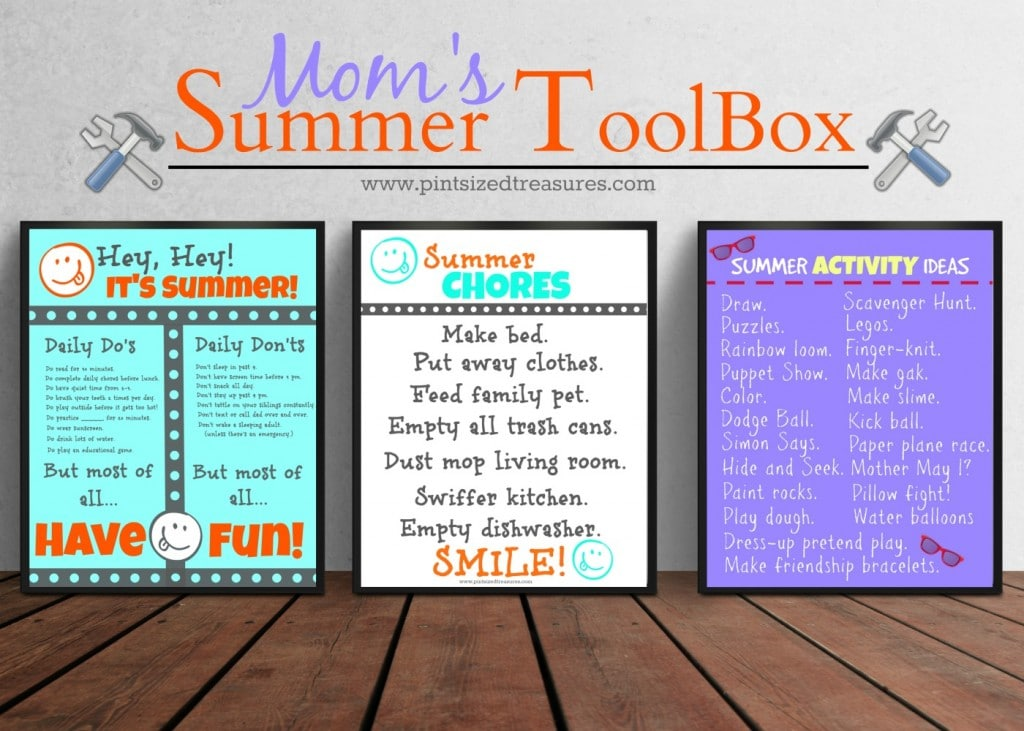 printables checklists chore charts for summer