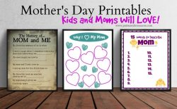 Free Mother's Day Printables Kids and Mom Will LOVE!