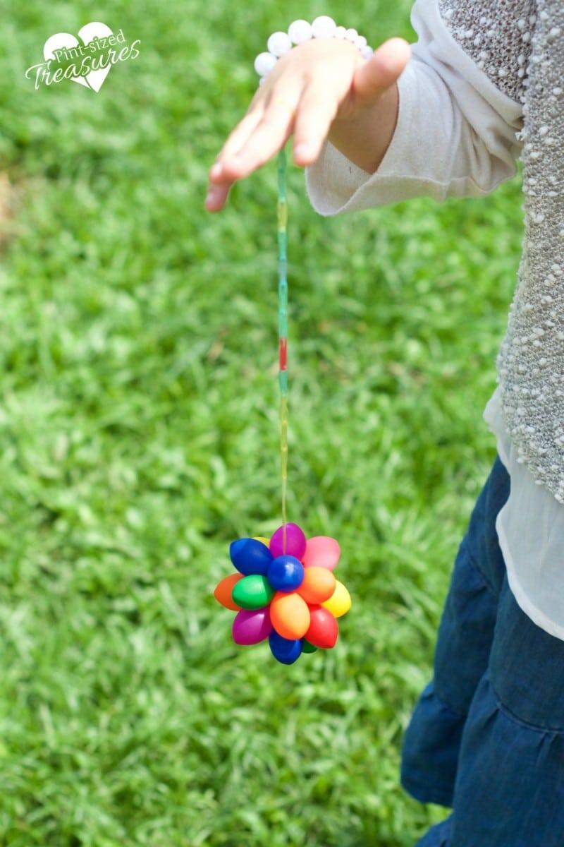 rainbow sensory balloon balls