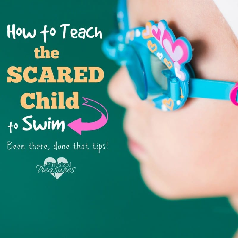 how to teach a scared child to swim
