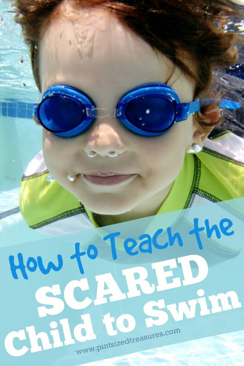 teaching scared children to swim