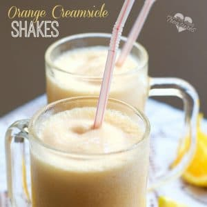 easy orange creamsicle shakes