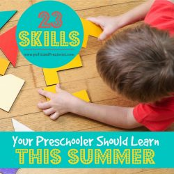 preschoolers learning in the summer