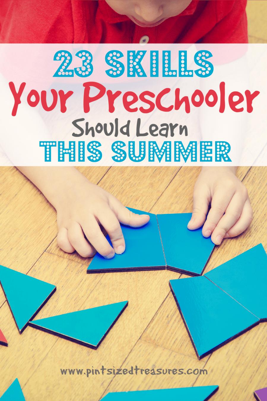 preschool learning in the summer