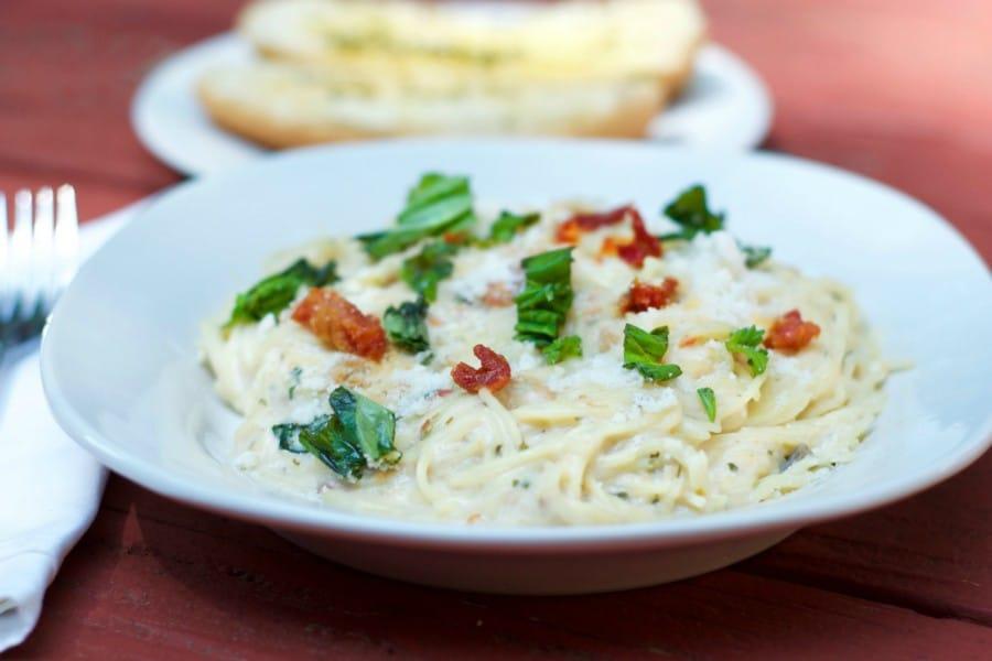 creamy pasta with tuna