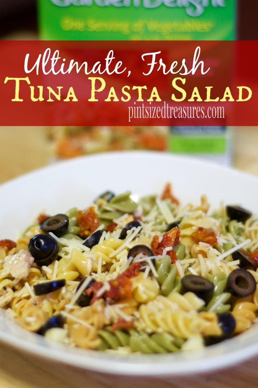 Recipes for fresh tuna and pasta
