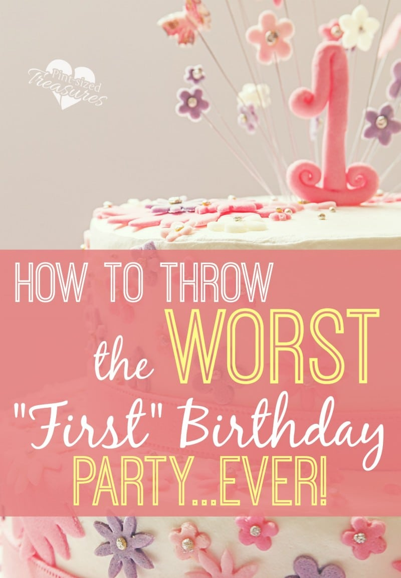 worst birthday party ideas