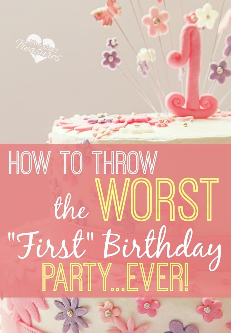 worst birthday party ideas