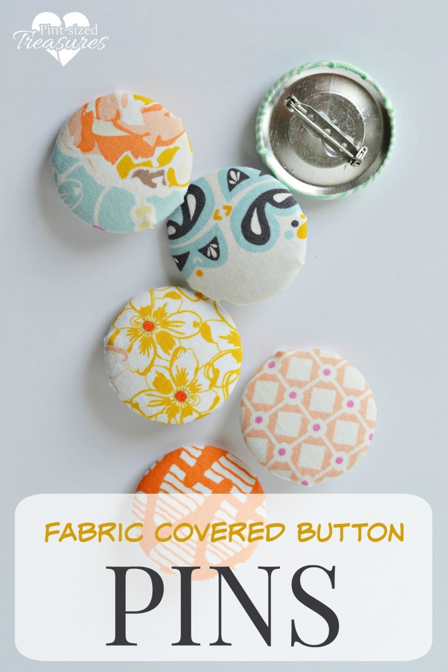 fabric button pins