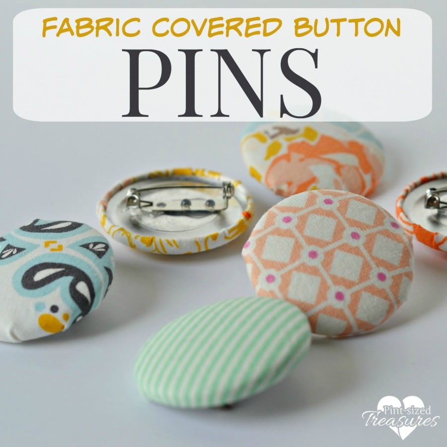 fabric button pins craft