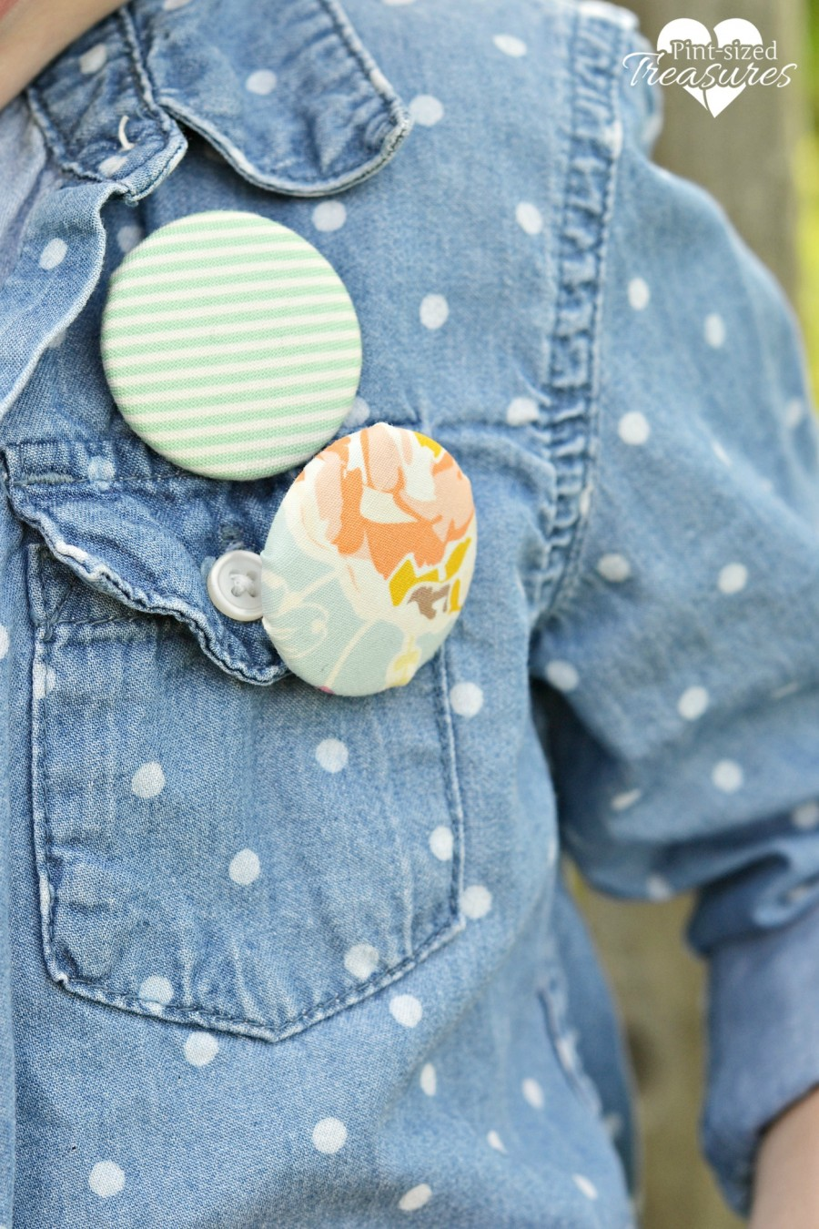 fabric covered button pins