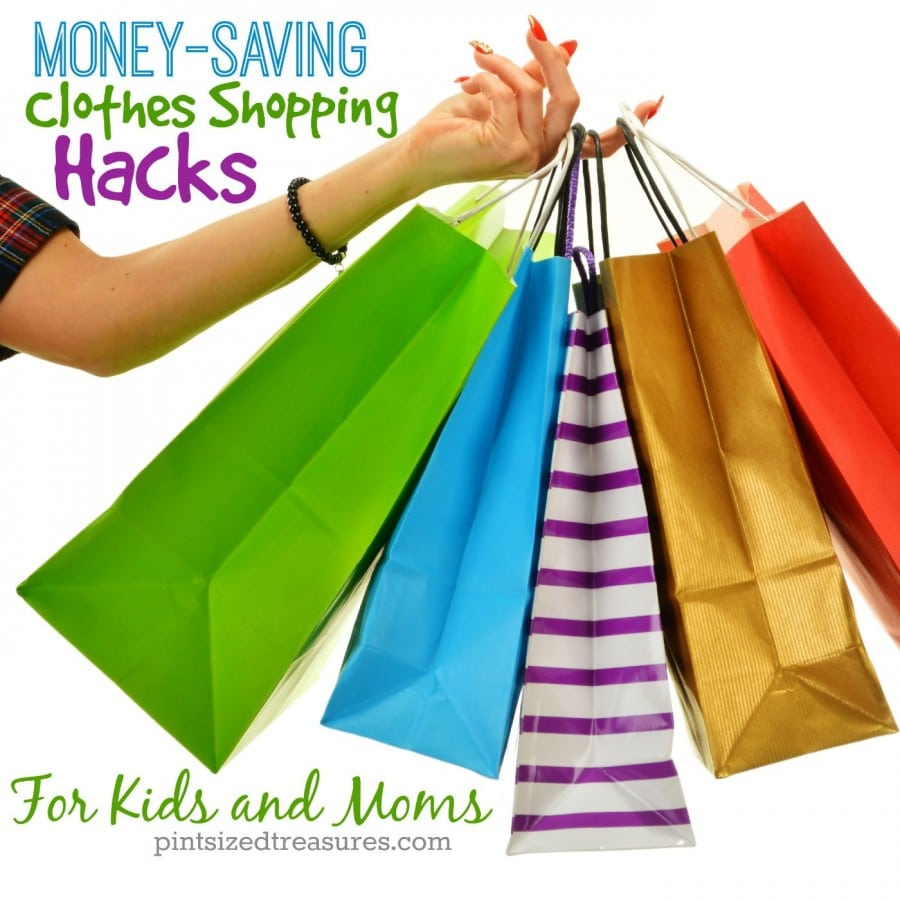 clothes shopping tips for moms and kids