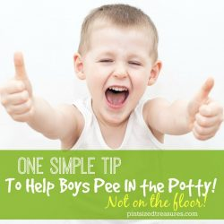 One Simple Tip To Help Boys Pee IN the Potty — Not the Floor!