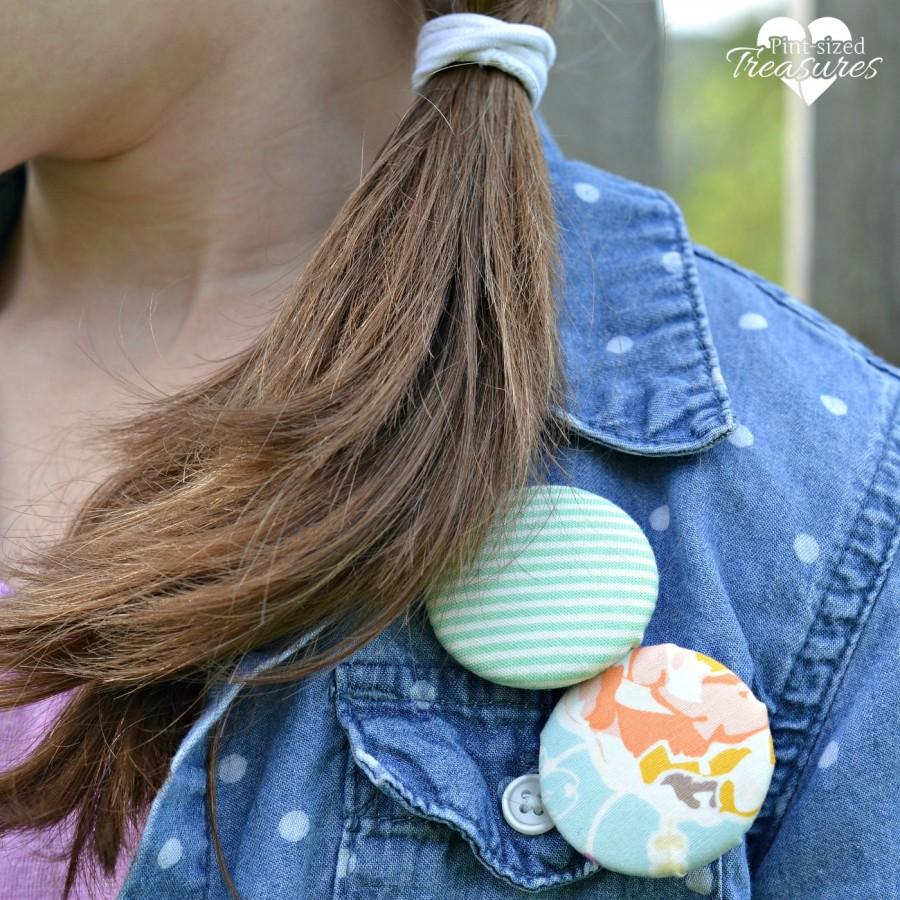 fun fabric button pins diy