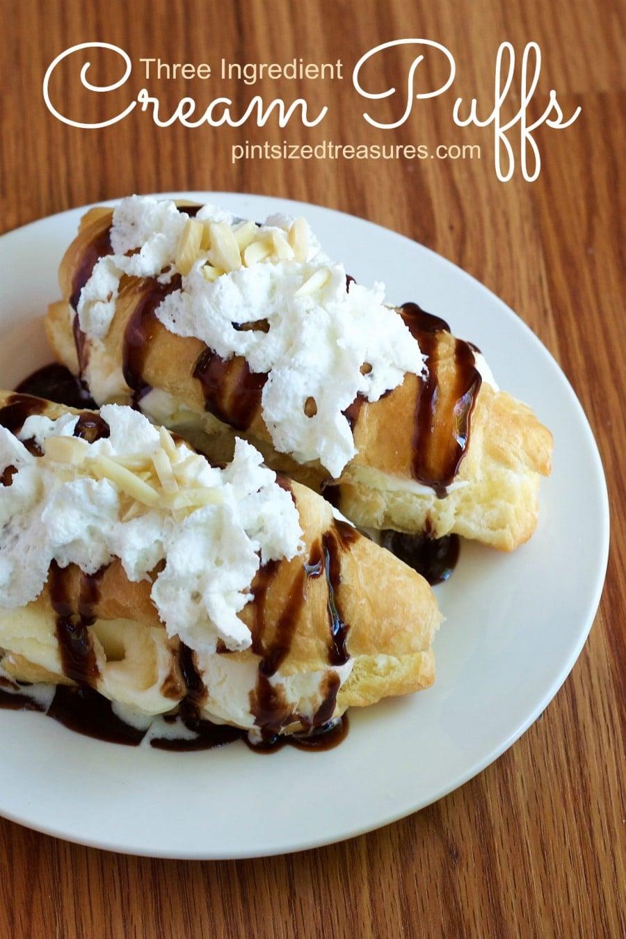 three ingredient cream puffs