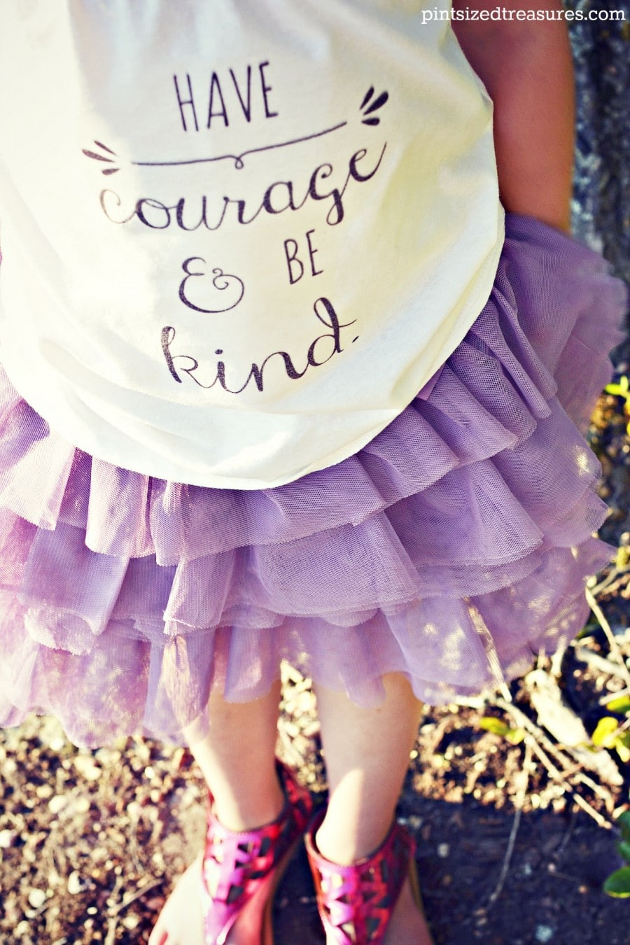cinderella have courage and be kind diy craft