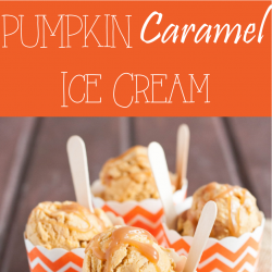 diy pumpkin caramel ice cream
