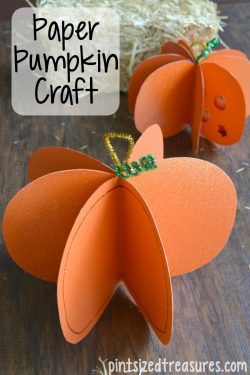 Easy Paper Pumpkin Craft