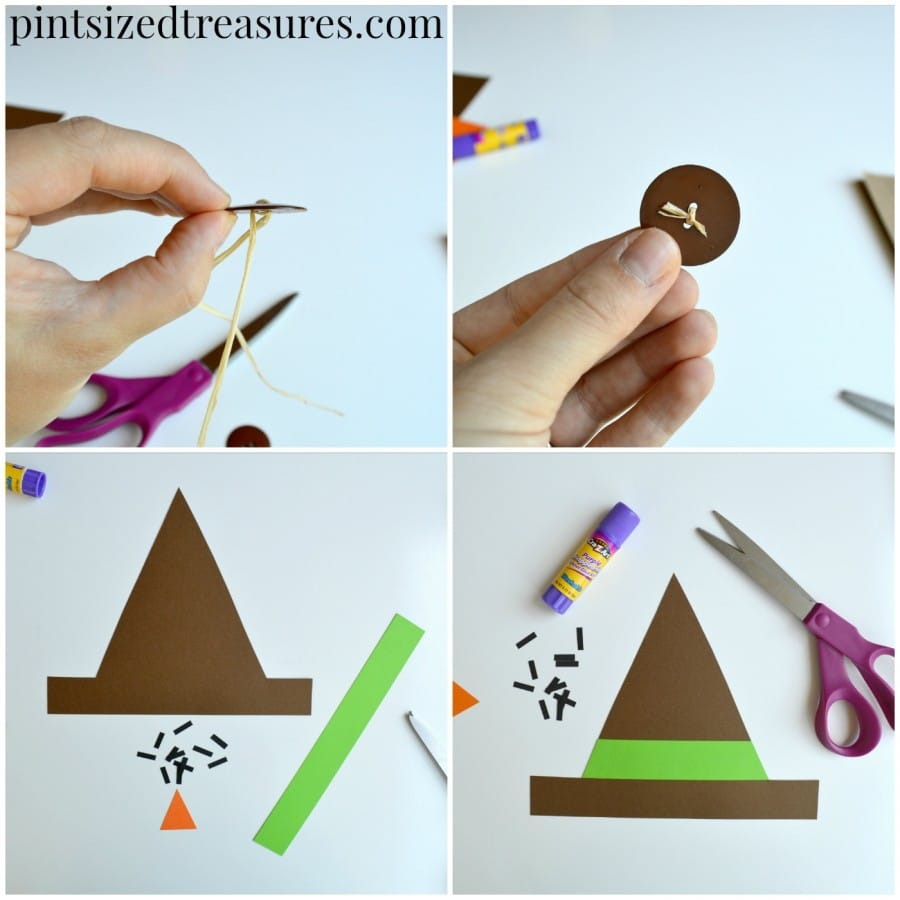 tutorial for easy paper bag scarecrows