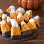 chocolate covered candy corn treats