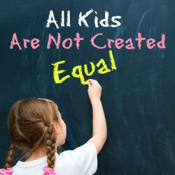 why kids are not created equal
