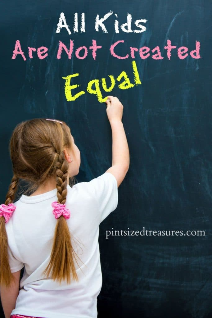 All Kids Are Not Created Equal