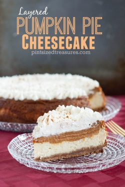Layered Pumpkin Pie Cheesecake