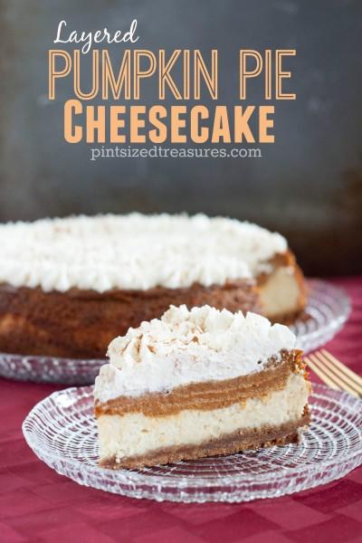 Layered Pumpkin Pie Cheesecake
