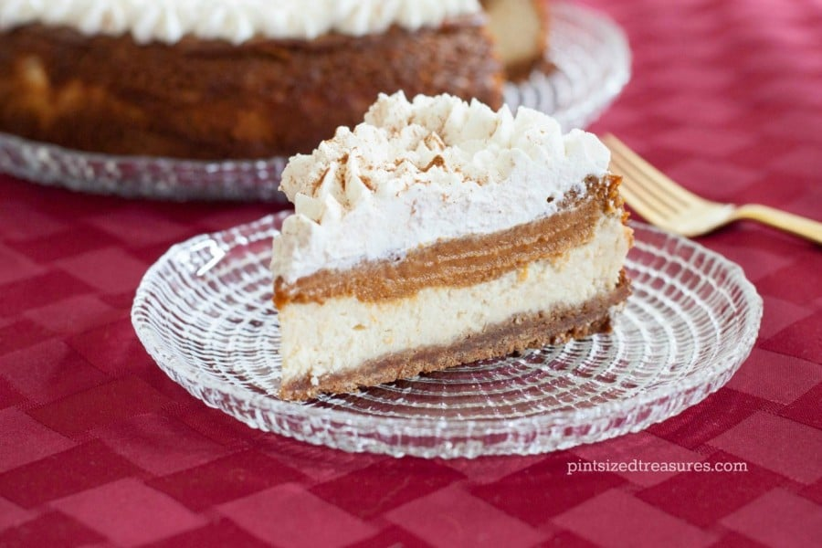 Layered Pumpkin Pie Cheesecake » Pint-sized Treasures