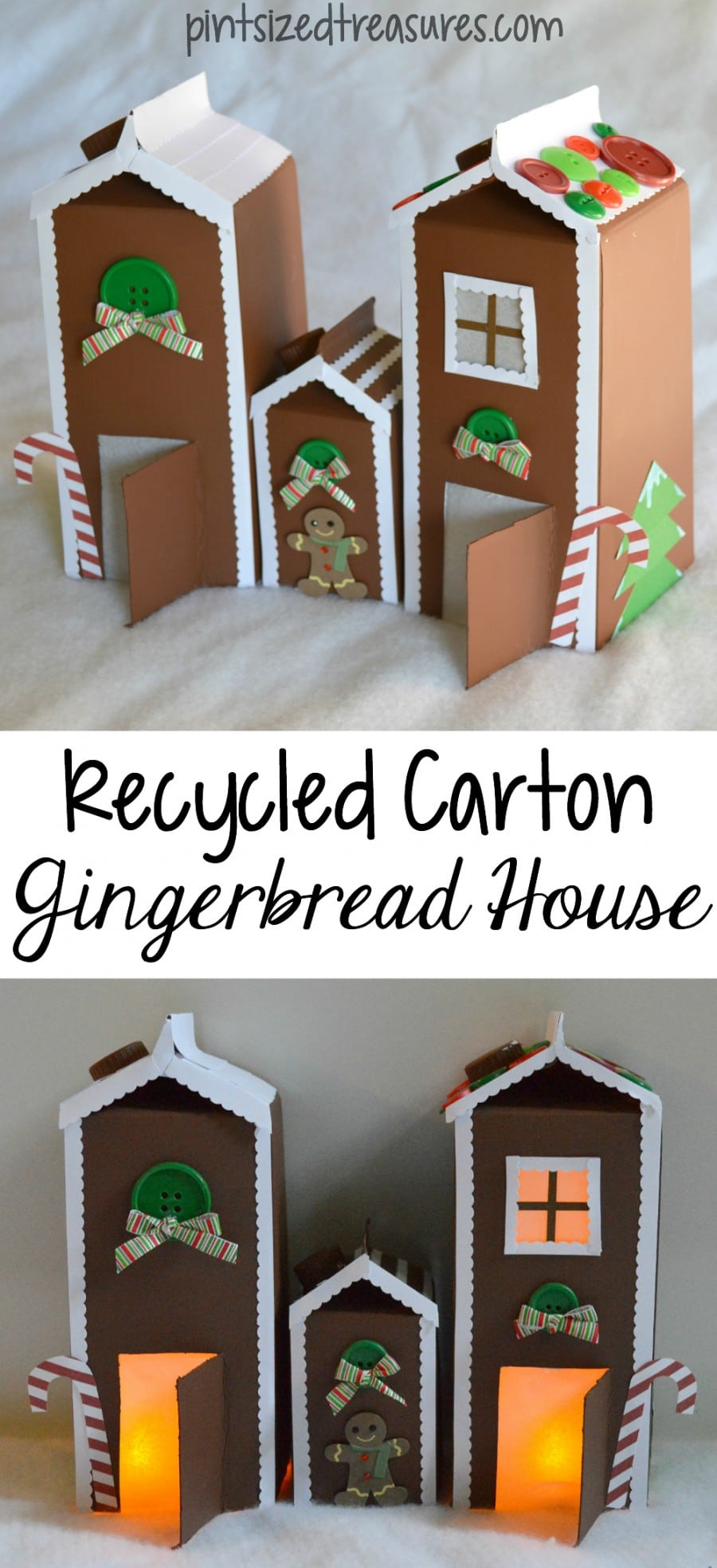 easy paper gingerbread house