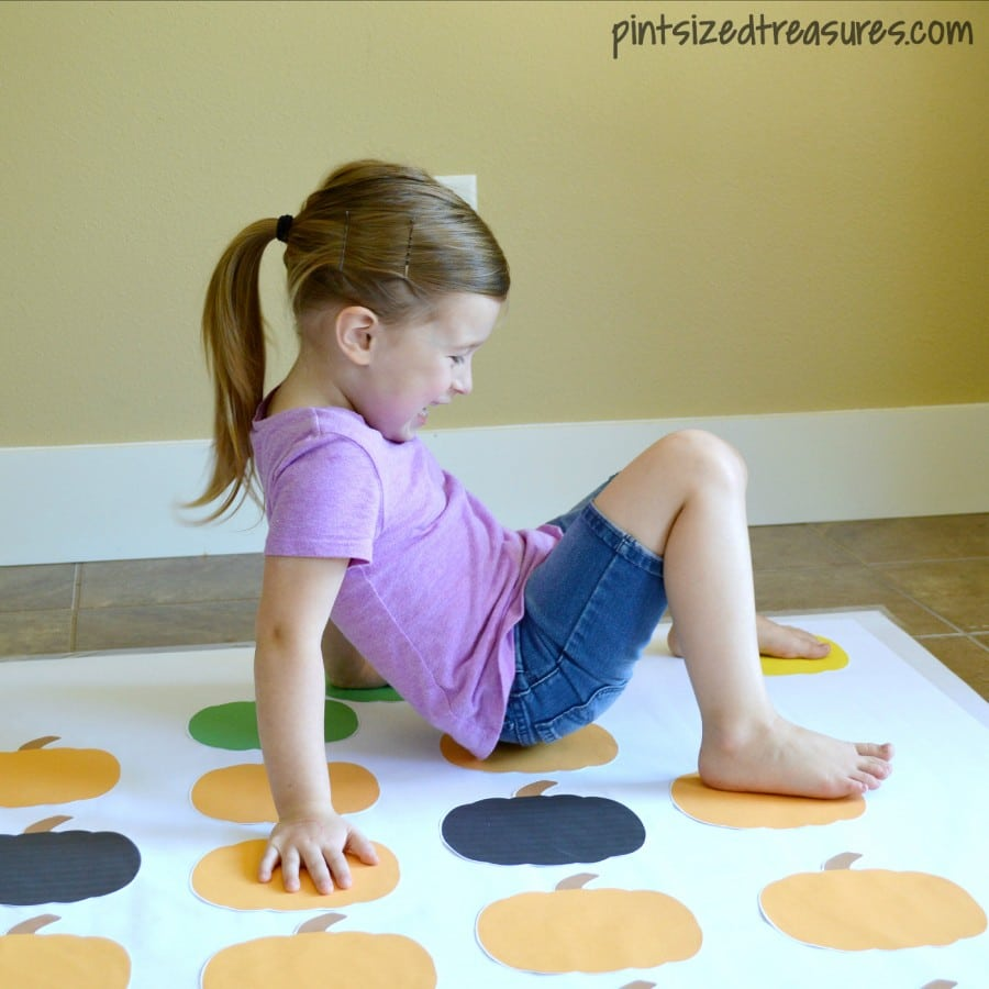 diy pumpkin twister game