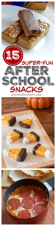 after school snacks kids love