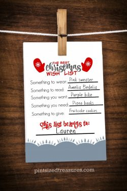 The Best (Printable) Christmas Wish List For Kids