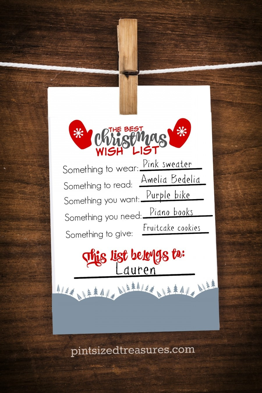 The Best Printable Christmas Wish List For Kids  Pintsized