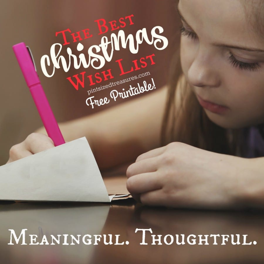 The Best (Printable) Christmas Wish List For Kids · Pint-sized Treasures