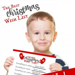 free wish list printable for kids