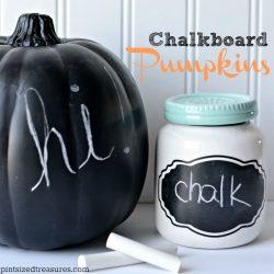 DIY Chalkboard Pumpkins