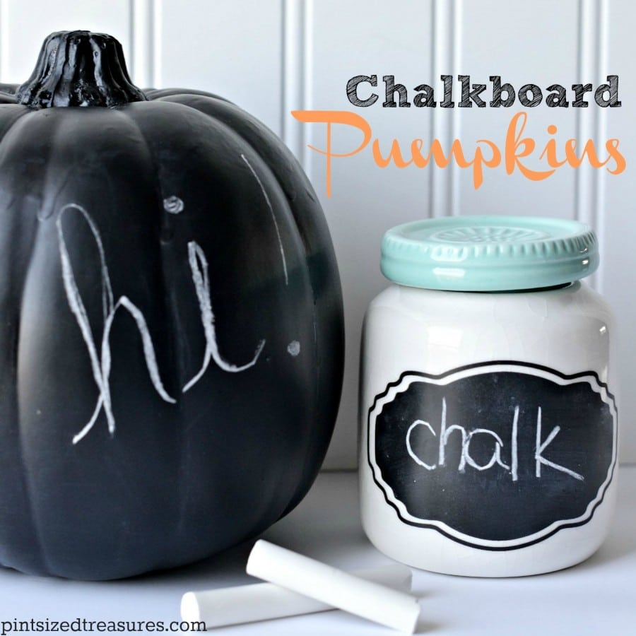 diy chalkboard pumpkins craft