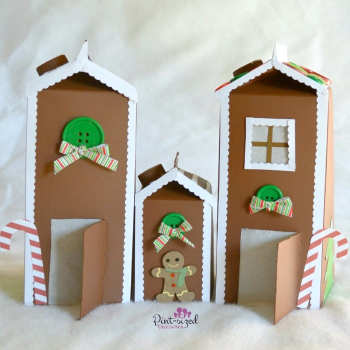 Adorable gingerbread houses that are made out of paper!