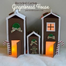 Recycled Carton Gingerbread House