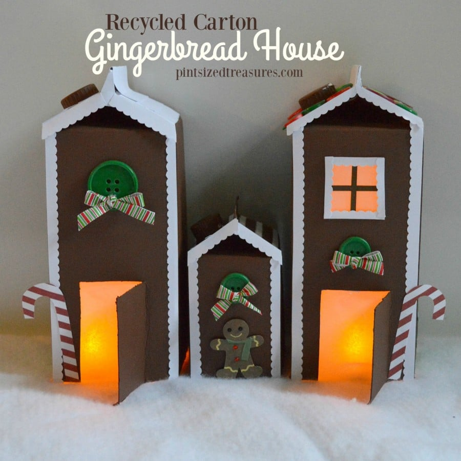 House Craft Ideas For Kids Part - 38: Carton Gingerbread House Craft