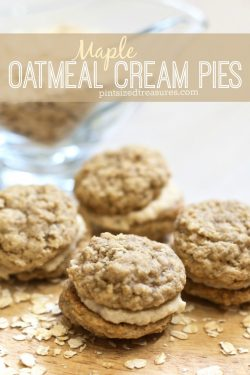 Mini Maple Oatmeal Cream Pies