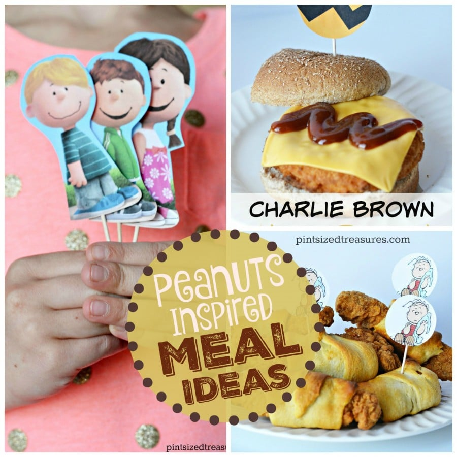 peanuts charlie brown meal ideas