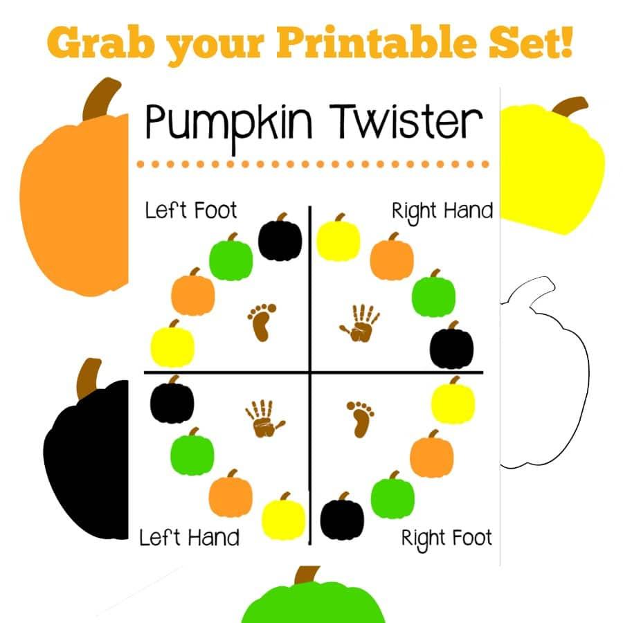 Diy Pumpkin Twister Game Pint Sized Treasures