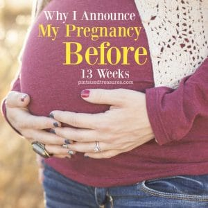 why I announce my pregnancy early