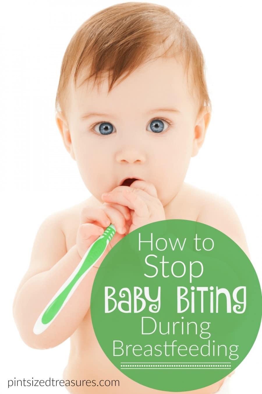 biting during breast feeding