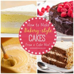 How to Make Bakery-style Cakes from a Cake Mix
