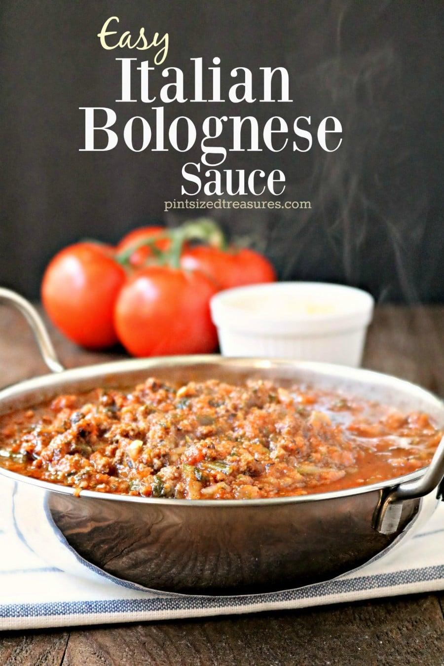 easy Italian bolognese sauce recipe